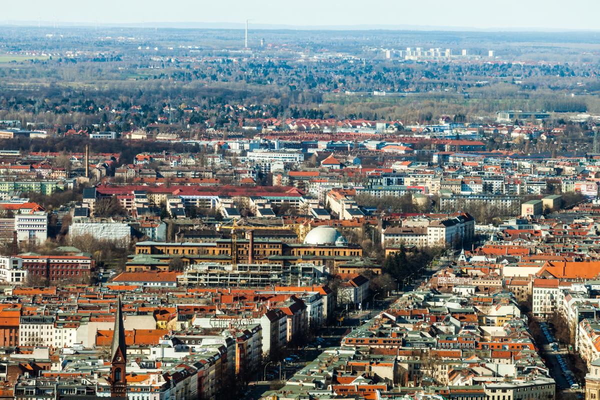 Panorama de la ville d'horizon de Berlin